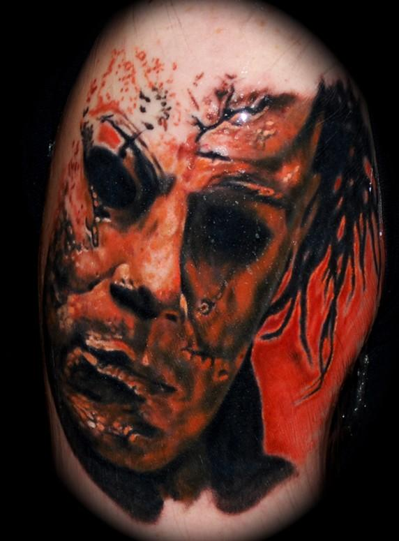 Creepy spooky scary halloween tattoos for Michael myers tattoo