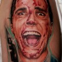 thumbs american psycho halloween tattoo