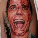 thumbs american psycho halloween tattoo