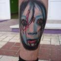 thumbs creepy girl halloween tattoo