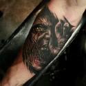 thumbs demon halloween tattoo