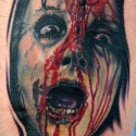 thumbs psycho halloween tattoo