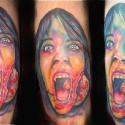 thumbs saw halloween tattoo