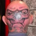 thumbs skull head halloween tattoo 2