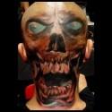 thumbs skull head halloween tattoo