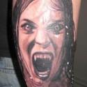 thumbs vampire girl halloween tattoo
