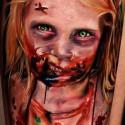thumbs walking dead halloween tattoo