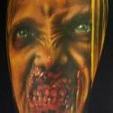 thumbs zombie girl halloween tattoo