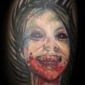 thumbs zombie kid halloween tattoo
