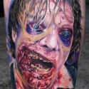 thumbs zombie man halloween tattoo