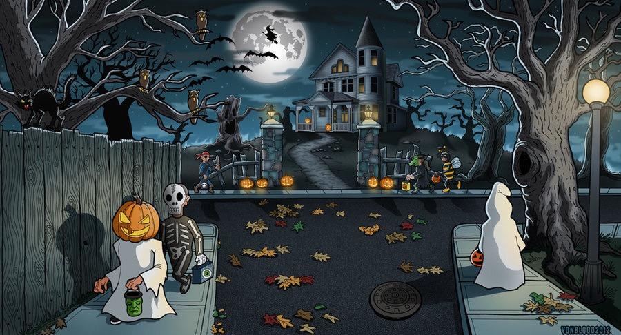 halloween art by vonblood studios