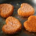 thumbs heart breaded camembert