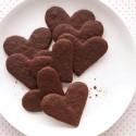 thumbs heart chocolate cookies