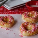 Strawberry Iced Doughnuts