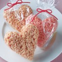 thumbs heart rice crispy treats