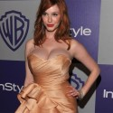 thumbs christina hendricks golden globes after party 01