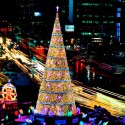 A Christmas tree stands in front of City Hall in Seoul, South Korea. (Lee Jin-man/Associated Press)