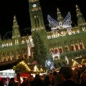 "People gather at a Christmas market, in front of the ""Rathaus"" townhall of in Vienna on December 1, 2012. AFP PHOTO / ALEXANDER KLEIN        (Photo credit should read ALEXANDER KLEIN/AFP/Getty Images)"