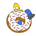 thumbs homer simpson donuts 45
