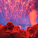 Fireworks detonate above Mount Rushmore National Memorial, July 3. Approximately 30,000 people came to the memorial for the 2008 Independence Day Celebration. (U.S. Air Force photo/Senior Airman Marc I. Lane)