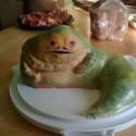 thumbs Jabba Star Wars Cake