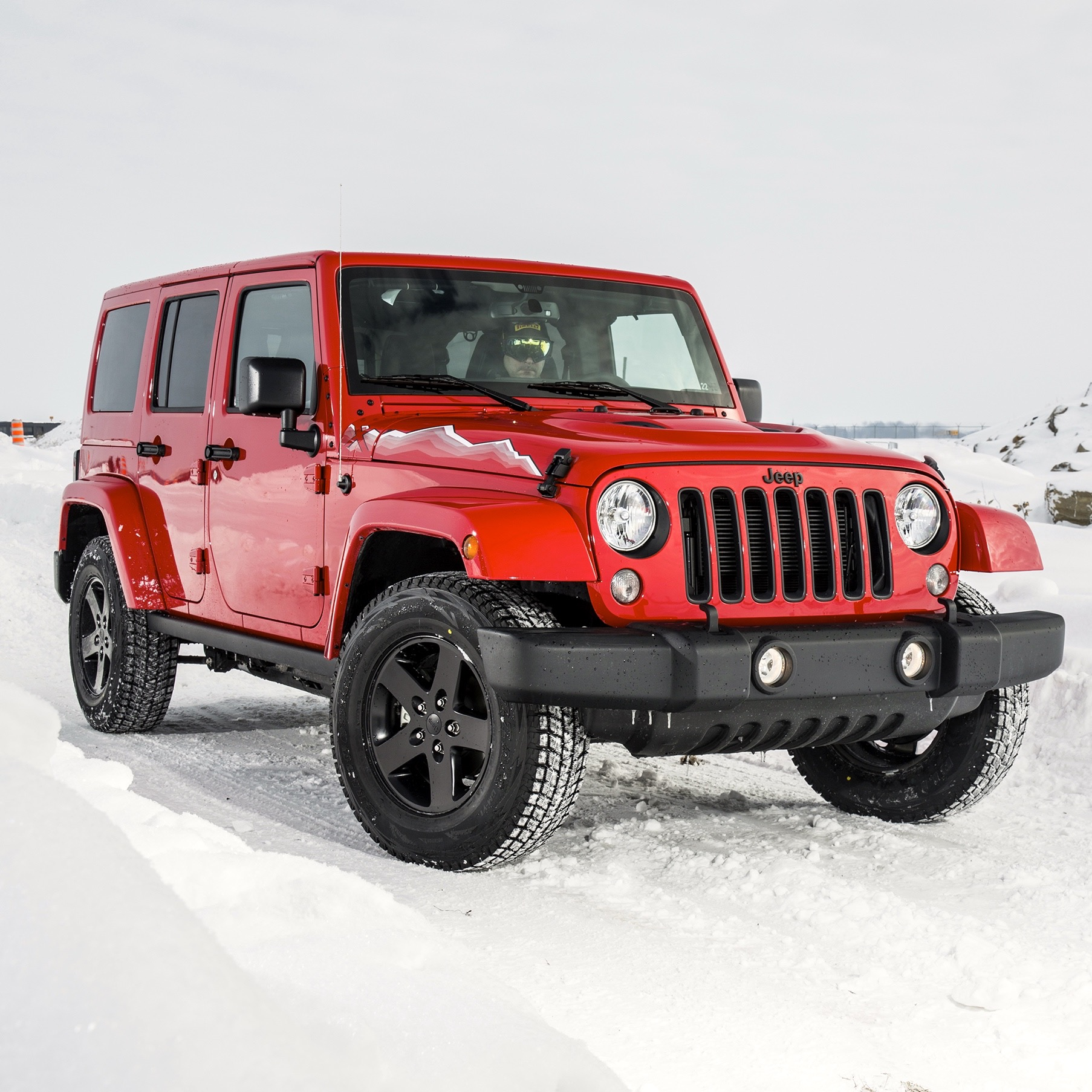 Badass Jeep Wrangler >> Off-Road in the Snow with Jeep