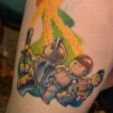 thumbs Lego Ghostbusters tattoo