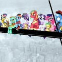 thumbs lunch atop a skyscraper   ponified by inkypsycho d7fecbn