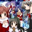 thumbs moe 53023 christmas clannad fujibayashi kyou fujibayashi ryou furukawa nagisa ibuki fuuko ichinose kotomi sakagami tomoyo tagme