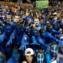 during their game at Cameron Indoor Stadium on March 3, 2012 in Durham, North Carolina.