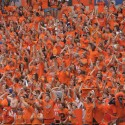 Student Section Football Crowd Orange Cheering