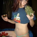 thumbs marijuana girl 7
