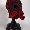 thumbs Dark red Gas Mask 2