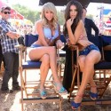 thumbs sara underwood emily ratajkowski carls jr hardees commercial 2