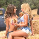 thumbs sara underwood emily ratajkowski carls jr hardees commercial 3