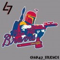 thumbs mlb star wars braves