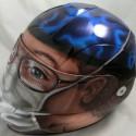 thumbs motorcycle helmet painting 04
