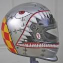 thumbs motorcycle helmet painting 05