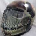 thumbs motorcycle helmet painting 06