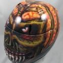 thumbs motorcycle helmet painting 07
