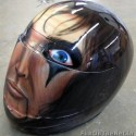 thumbs motorcycle helmet painting 08