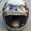 thumbs motorcycle helmet painting 09