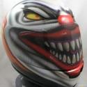 thumbs motorcycle helmet painting 10
