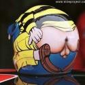 thumbs motorcycle helmet painting 18