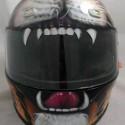 thumbs motorcycle helmet painting 20