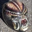 thumbs motorcycle helmet painting 22