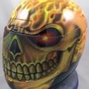 thumbs motorcycle helmet painting 29