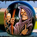 thumbs motorcycle helmet painting 30