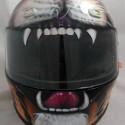 thumbs motorcycle helmet painting 33