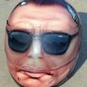 thumbs motorcycle helmet painting 35
